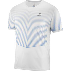 Salomon Sense Hardloopshirt korte mouwen Heren, white/faded denim